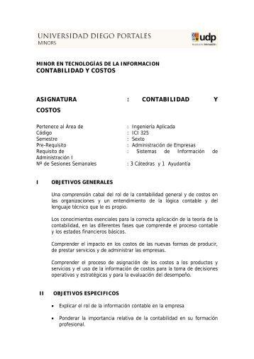 CONTABILIDAD Y COSTOS ASIGNATURA : CONTABILIDAD Y ...