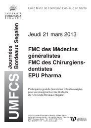 Inscription Internes Médecine générale, Enseignants Bordeaux ...