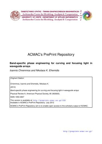 Download (4Mb) - ACMAC's PrePrint Repository