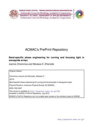 Download (4Mb) - ACMAC's PrePrint Repository