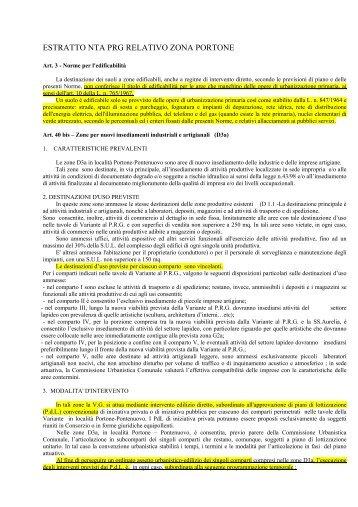 estratto nta prg relativo zona portone - Comune di Pietrasanta