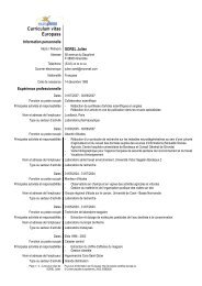 Exemple de CV - Agence Europe-Education-Formation France