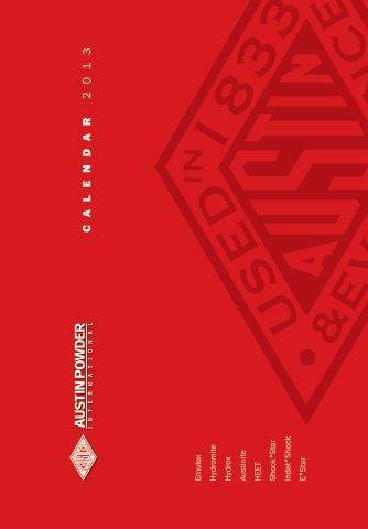 C A L E N D A R 2 0 1 3 - Austin Detonator sro