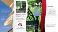 Ph.D. Program Brochure - School of Social Work at the University of ...