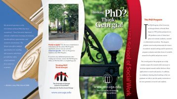 Ph.D. Program Brochure - School of Social Work at the University of ...