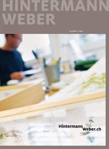 25 Jahre Hintermann & Weber - Jubiläumsbrochüre 2008