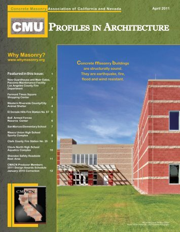 April 2011.indd - Concrete Masonry Association of California and ...