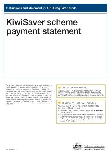 kiwisaver scheme payment statement australian taxation office