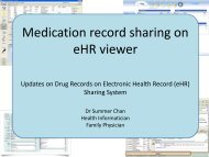 Demonstration on eHR Viewer - Electronic Health Record Office