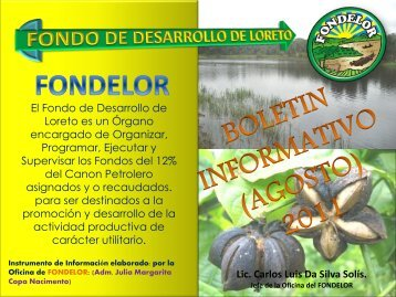 Diapositiva 1 - Gobierno Regional de Loreto