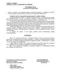 HCL nr 36 din 25 august 2008 - Primaria Municipiului Fagaras