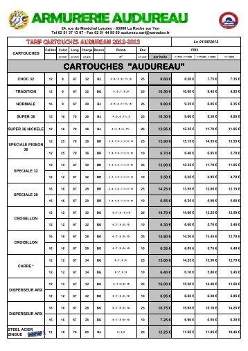 cartouches - Armurerie Audureau