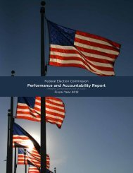 Performance and Accountability Report - Federal Election Commission