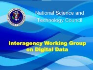 Strategic Planning for Digital Data Policy in the - cendi