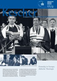 Kescher Sommer 2013 (PDF) - Abraham Geiger Kolleg