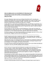 schilderten die beiden Fälle - Plattform für Menschenrechte Salzburg