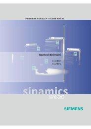 Sinamics G120 Parametre Listesi TR - Teknika Otomasyon