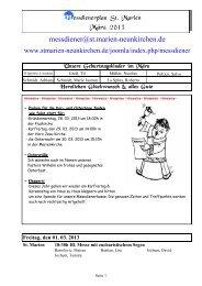 Messdienerplan März 2013 - Kath. Kirchengemeinde St. Marien ...