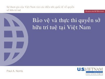 IPR Protection and Enforcement in Viet Nam