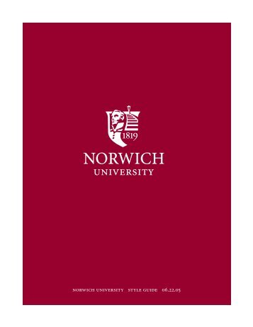 GRAPHICS STANDARDS MANUAL - Norwich University