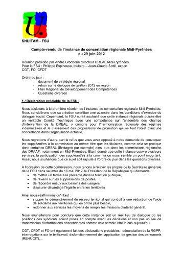 compte-rendu FSU de la réunion du 19 juin 2012 - SUP-Equip