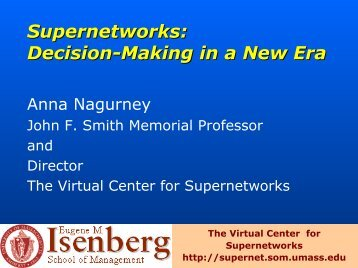 decision-making - The Virtual Center for Supernetworks