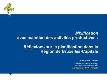 Réflexions sur la planification dans la Région de Bruxelles-Capitale