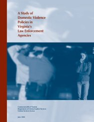 A Study of Domestic Violence Policies in Virginia's Law Enforcement ...