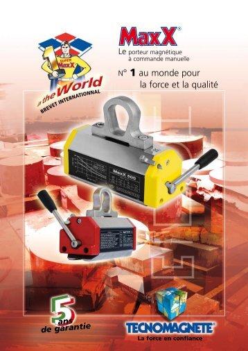Télécharger catalogues MaxX (format .pdf) - Tecnomagnete S.p.A.