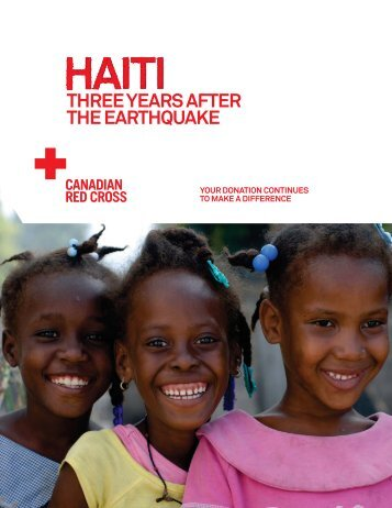 Haiti - Three years after the earthquake - Canadian Red Cross
