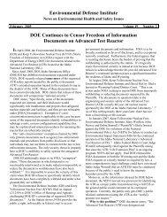 February 2009 - Environmental Defense Institute