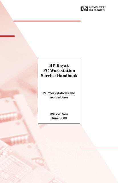 HP Kayak PC Workstation Service Handbook - Business Support