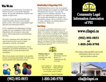 Our organizational brochure can be found here. - Community Legal ...