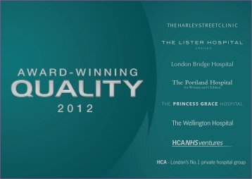 Quality Report 2012 - The Lister Hospital