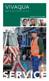 Rapport d'activités 2011 - Vivaqua