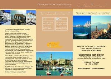 Studienreise nach Sizilien - Tobit-Reisen