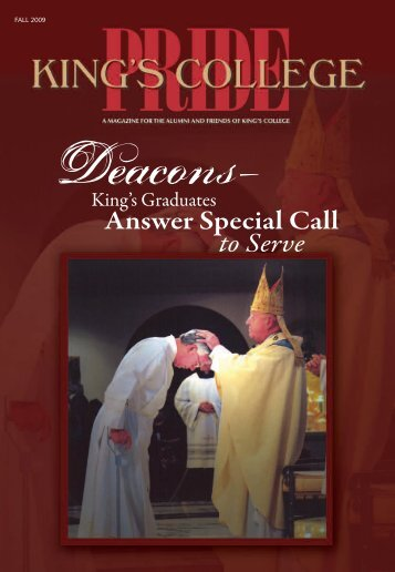 Answer Special Call to Serve - King's College