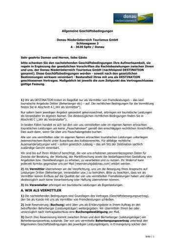 AGBH 2006 - Donau Niederösterreich Tourismus GmbH
