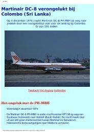 Martinair DC-8 verongelukt bij Colombo (Sri Lanka) - Leonardo