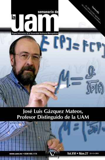 José Luis Gázquez Mateos, Profesor Distinguido de la UAM