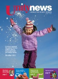 Issue 4, 2007 - Unity Health Insurance