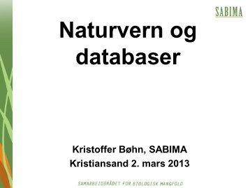 Naturvern og databaser - Sabima