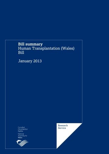 Human Transplantation (Wales) Bill - National Assembly for Wales