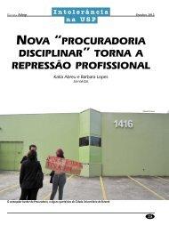 """nova """"procuradoria disciplinar"""" torna a repressão profissional - Adusp"""