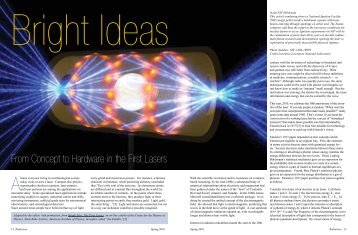 From Concept to Hardware in the First Lasers - Sigma Pi Sigma