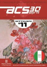 Acs 30 giorni - Consiglio Regionale dell'Umbria - Regione Umbria