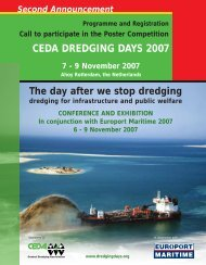 CEDA DREDGING DAYS 2007 - Central Dredging Association
