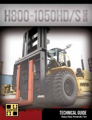 H800-1050HD/S Technical Guide - Hyster Company