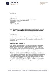 Public Comment Letter - OFCCP - Maly Consulting LLC