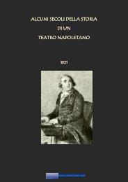 Alcuni secoli di una storia di un Teatro Napoletano - Vesuvioweb ...